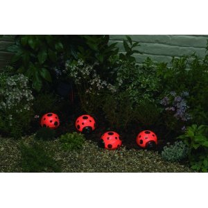 lady bug decorative solar garden lights