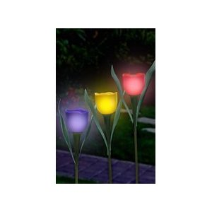decorative solar garden lights tulips